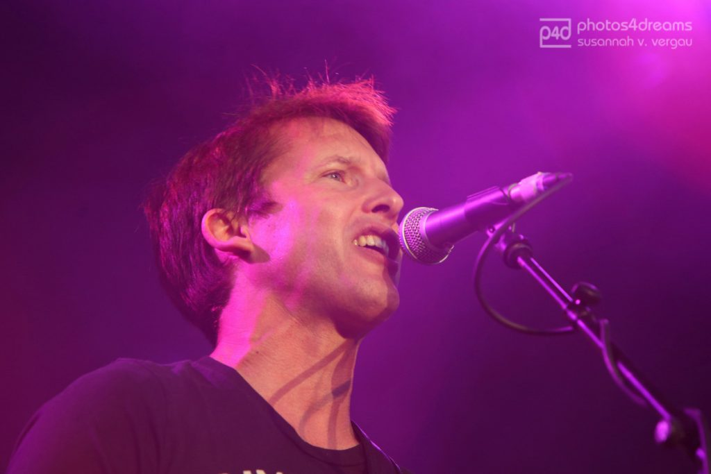 Superstar JAMES BLUNT auf dem One-Race-Festival in Aschaffenburg